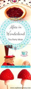 alie in wonderland tea party ideas