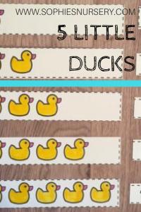 """Five Little Ducks – 12 """"QUACKINGLY GOOD"""" Activities"""