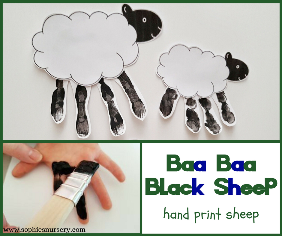 Epic image within sheep craft printable
