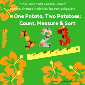 Garden Themed Maths Activities for Pre-Schoolers: Count, Measure & Sort