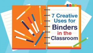 uses for binders in the classroom