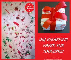 DIY wrapping paper for toddlers