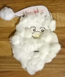 Santa's Beard Christmas Craft