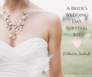 A Bride's Wedding Day Survival Kit: What to Include
