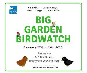 The Big Garden Birdwatch 2018 RSPB
