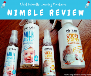 Child Friendly Cleaning Products: Nimble Milk Buster & Sticky Stopper