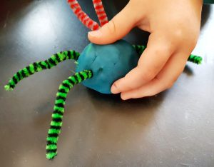 play doh spider