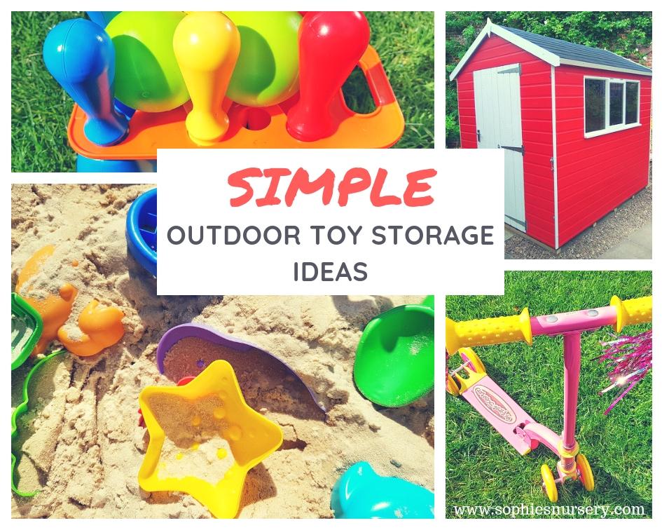Outdoor Toy Storage Ideas Simple Ways
