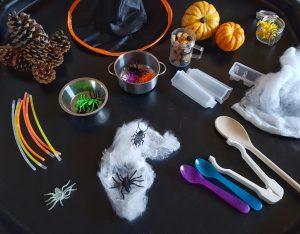 Halloween sensory bins