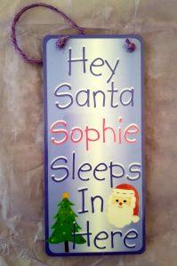 christmas door signs