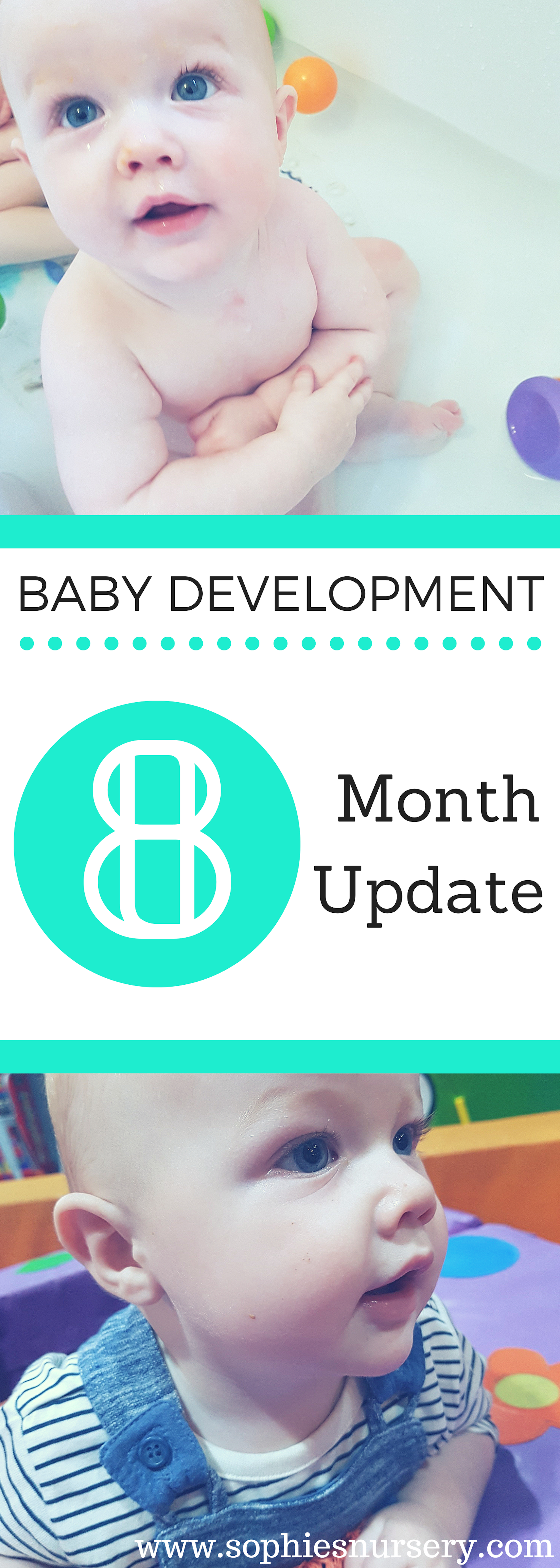 Lots of developmental leaps this month! Take a look at what Charlie's been up to & milestones reached in our baby development at 8 months update!  #baby #babydevelopment #monthlyupdate #milestones #parenting