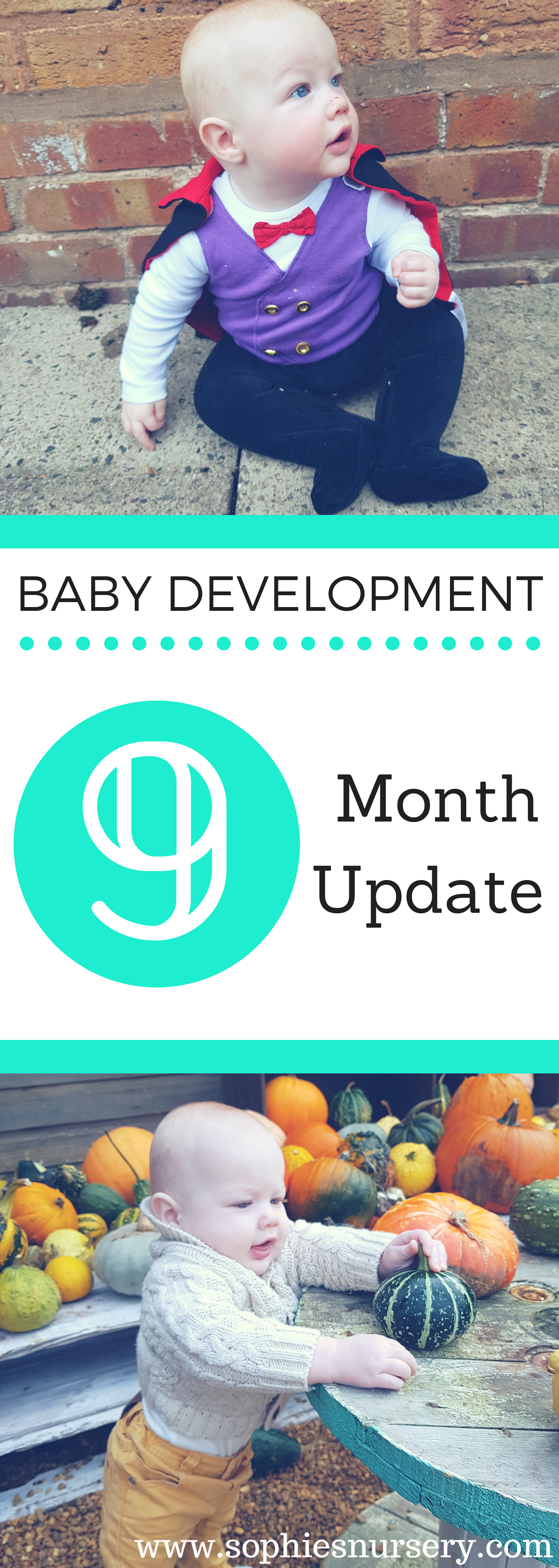 See what Charlie is up to at 9 months with our #babydevelopment at 9-month blog post! Physical & cognitive leaps abound & personality begins to shine through!  #parenting #9monthsold #babyupdate #kids #baby #development