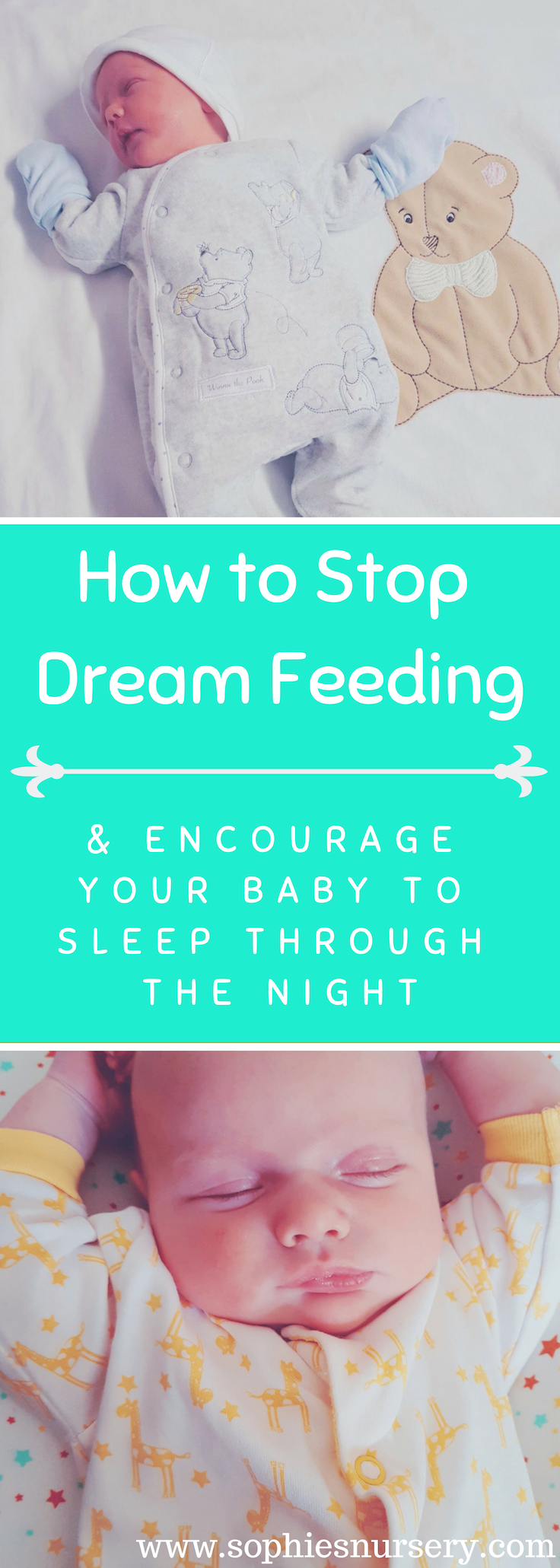 Trying to get your #baby to #sleep through the night? Here are a sleep experts top tips on how to stop dream feeding your baby so you all get a night's sleep!  #feeding #parenting #momlife