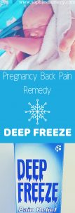 pregnancy back pain remedy