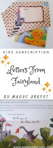kids subscription box: personalised letters