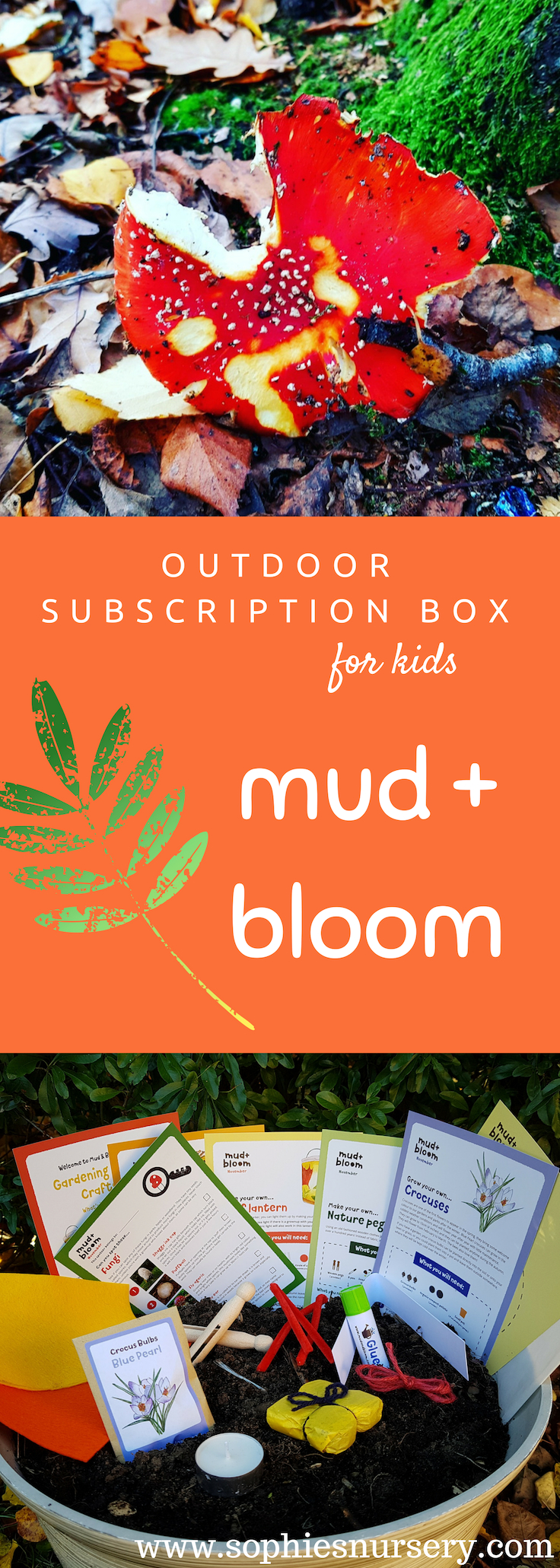A Mud & Bloom outdoor subscription box combines 3 of my favourite things - nature, crafts & education. Each seasonal box is packed full of amazing activities to complete outdoors with kids!