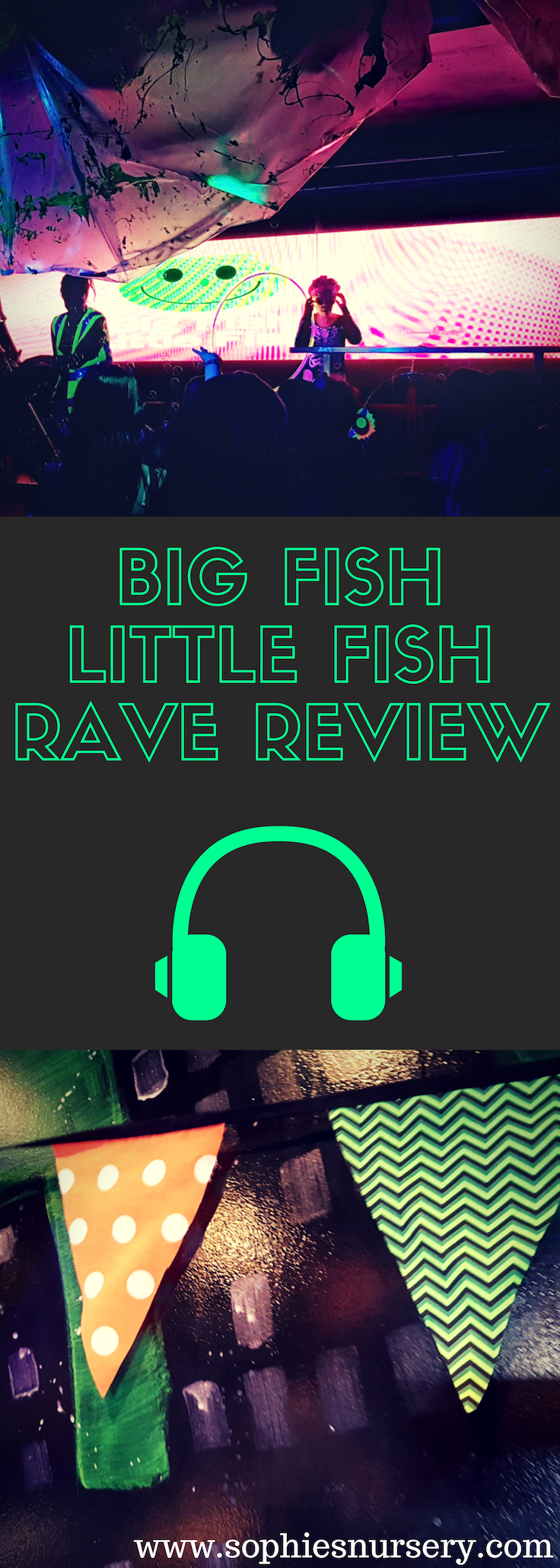 We had a blast at the award-winning Big Fish Little Fish rave, a special rave event put on just for families. Read our thoughts on this super family party!