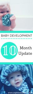 baby development at 10 months